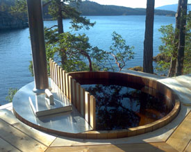 Round Barrel Hot Tubs  Saunas and Water Cisterns   Forest Lumber     Forest Lumber   Cooperage Ltd