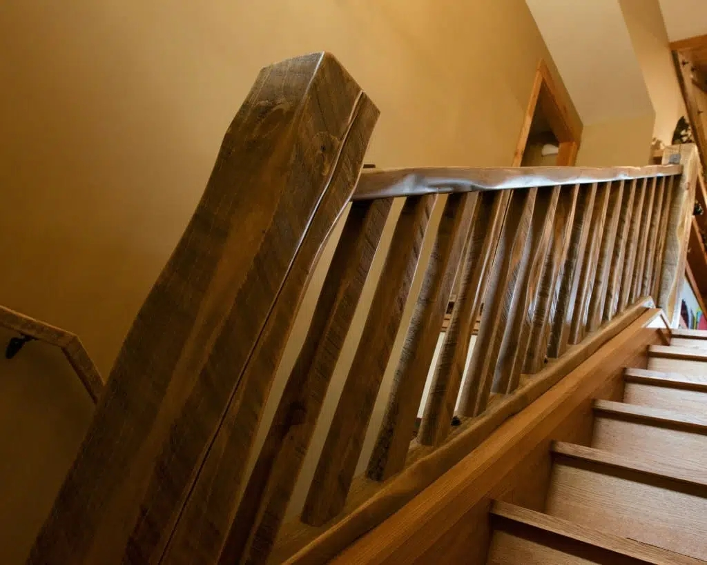 Barnwood Stair Systems In Wisconsin Forever Barnwood   Rustic Banisters And Railings   Industrial   Unusual   Balcony   Custom   Barn Style