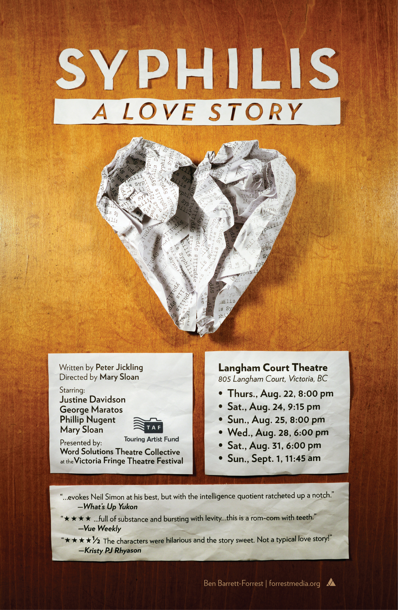 Syphilis Play Poster Forrest Media