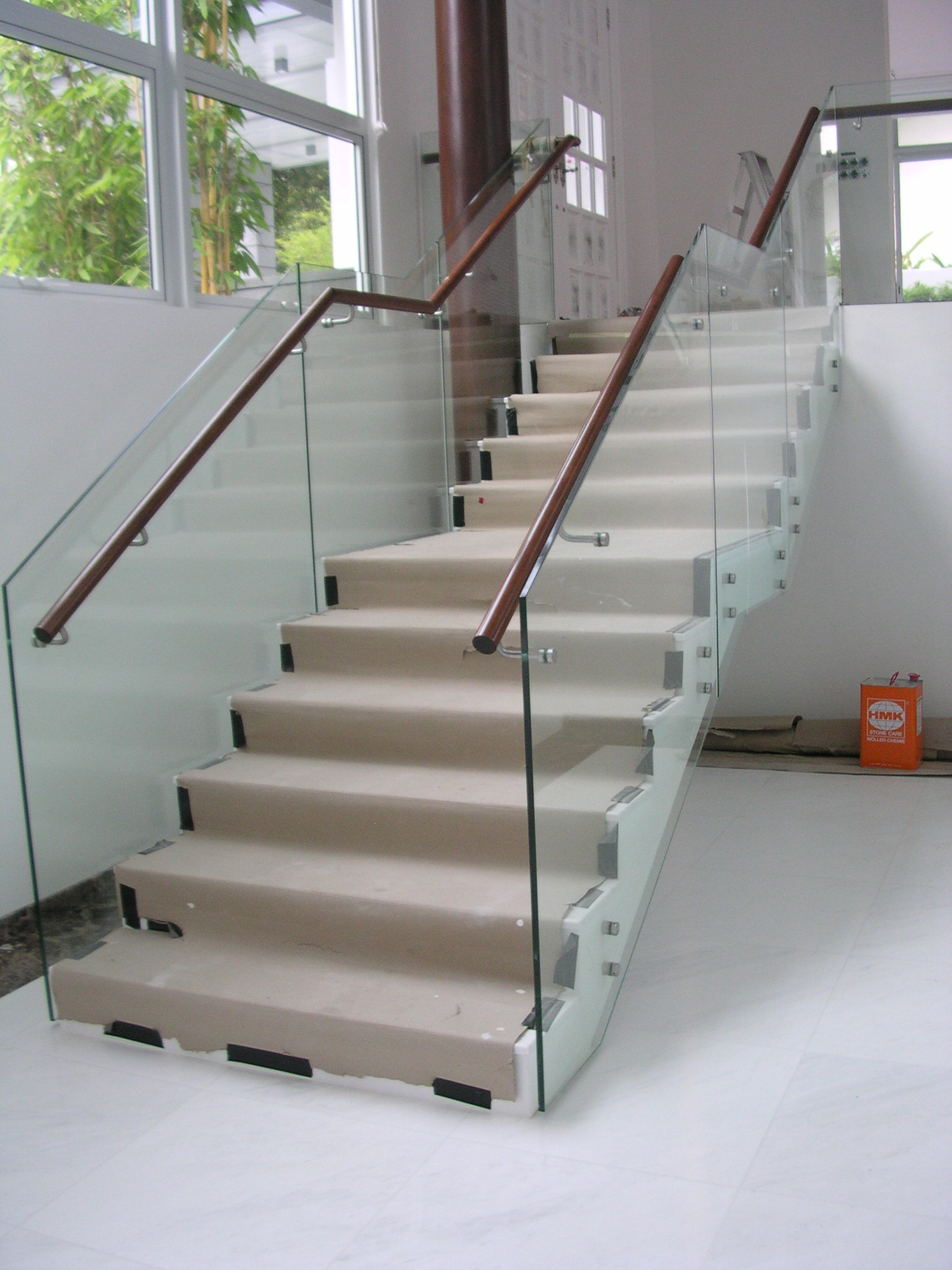 Solved Glass Panel Railing At Stair Landing 2017 Autodesk | Wooden Handrail With Glass | Oak | Square | Marble | Landing | Nautical Wood