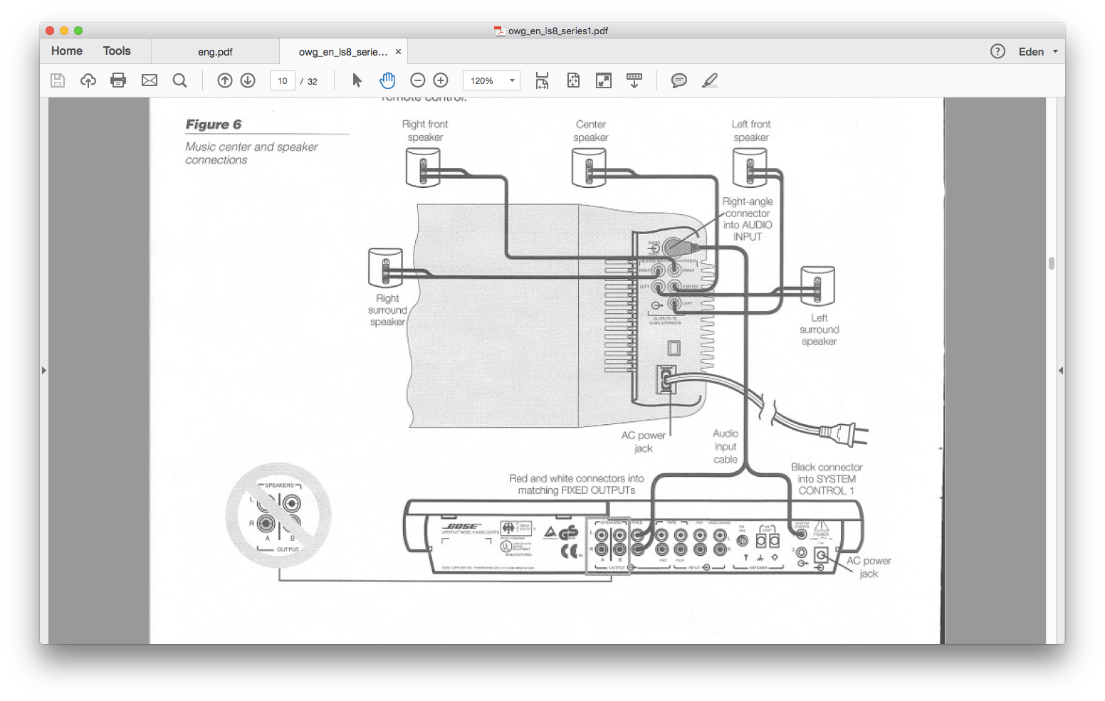 Bose 321 Connection Diagram Wiring