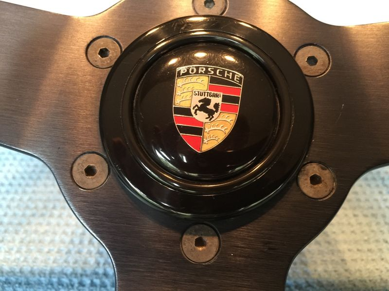 Momo Wheel With Hub And Porsche Crest Horn Button
