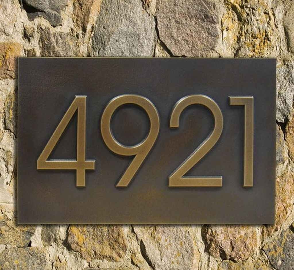 Vertical Address Plaques For House   Foter Modern home address advantage numbers 4 1