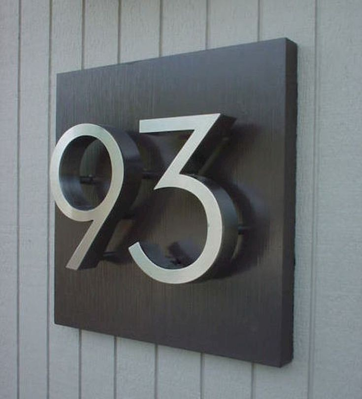 Metal House Number Signs   Foter Custom house numbers