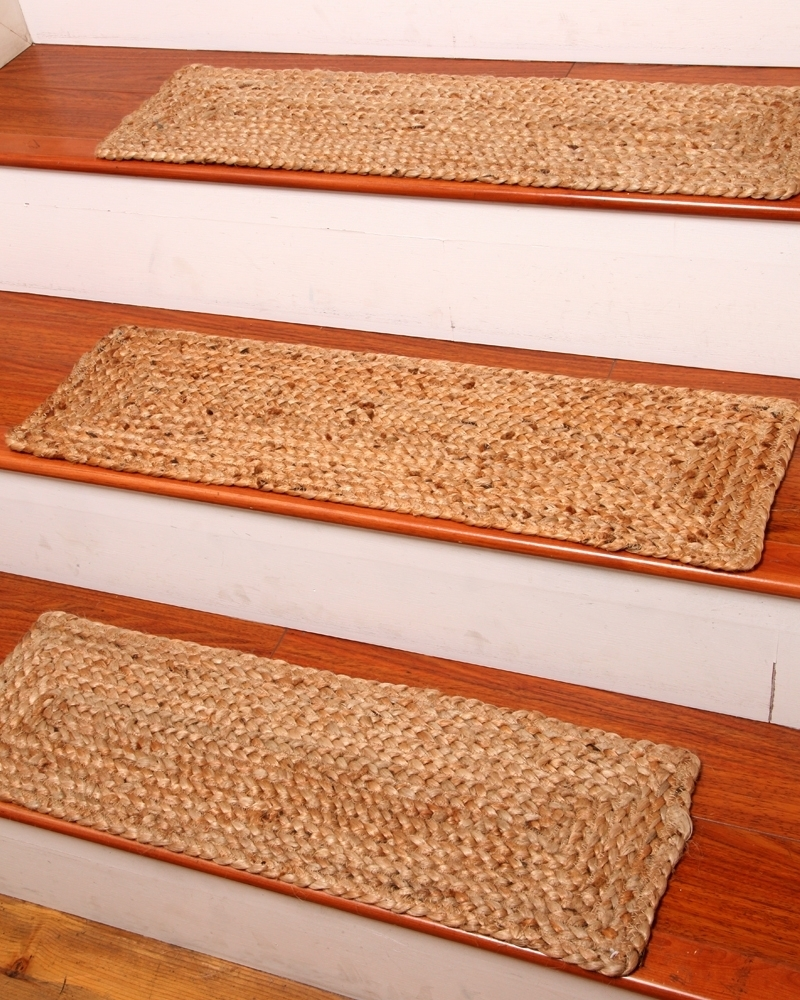 Jute Stair Treads Ideas On Foter | Temporary Carpet For Stairs | Non Slip | Stair Treads | Tile | Protection | Plastic
