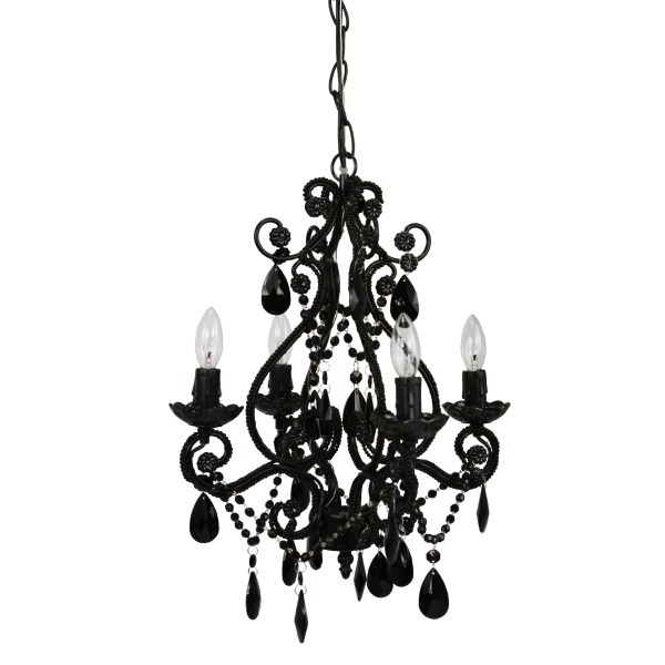 small black crystal chandelier # 3