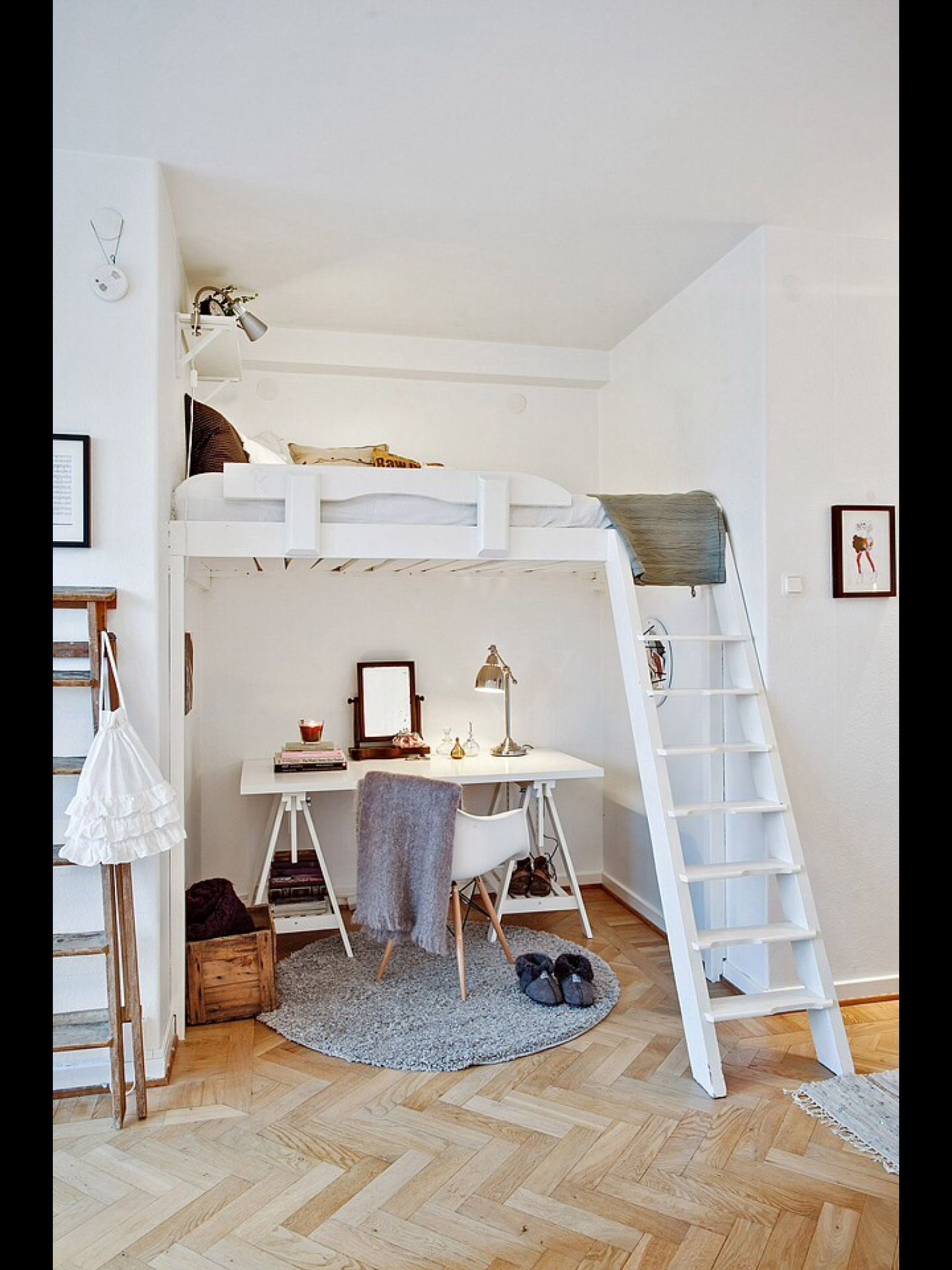 Student Loft Bed With Desk Ideas On Foter