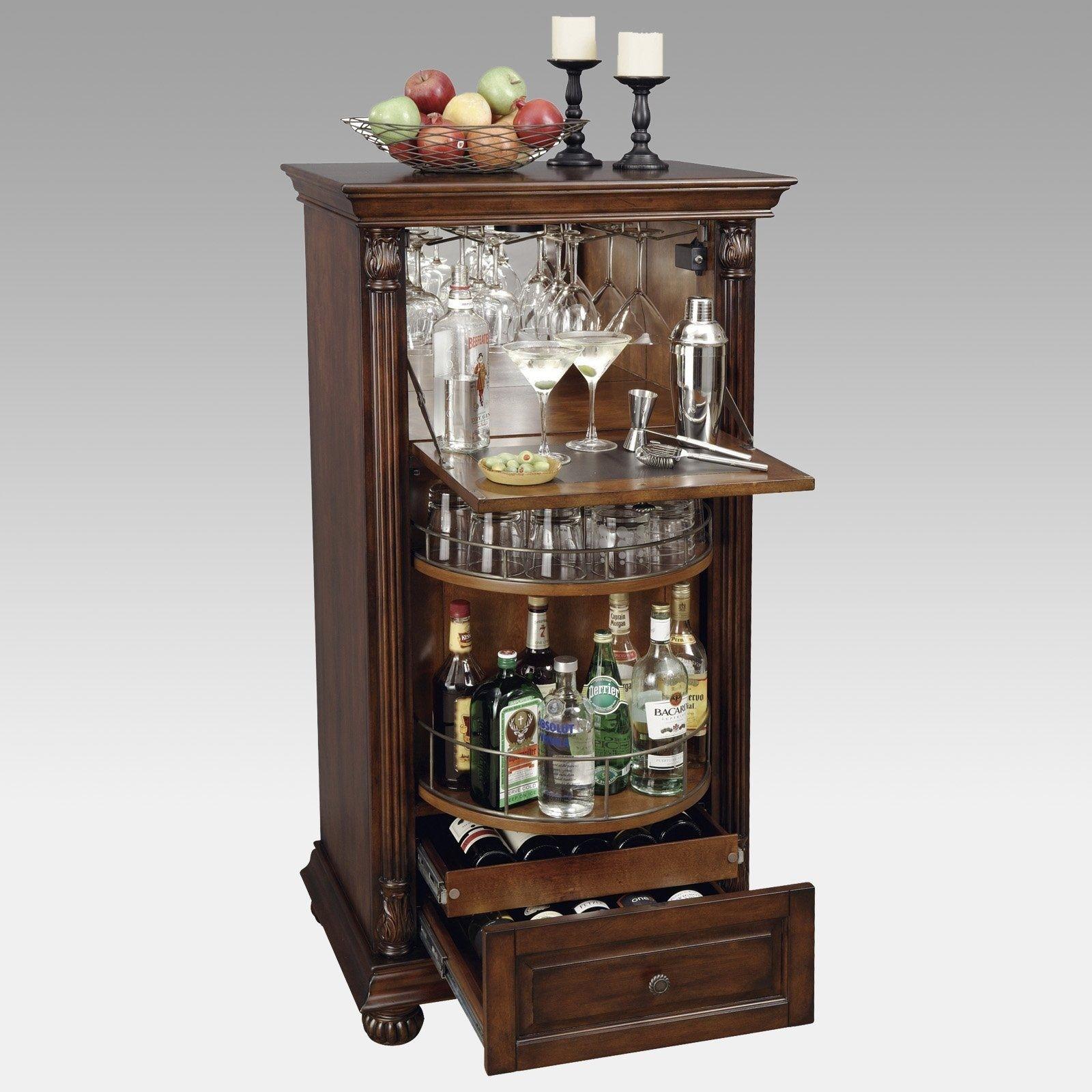 Cherry Wood Liquor Cabinet Foter