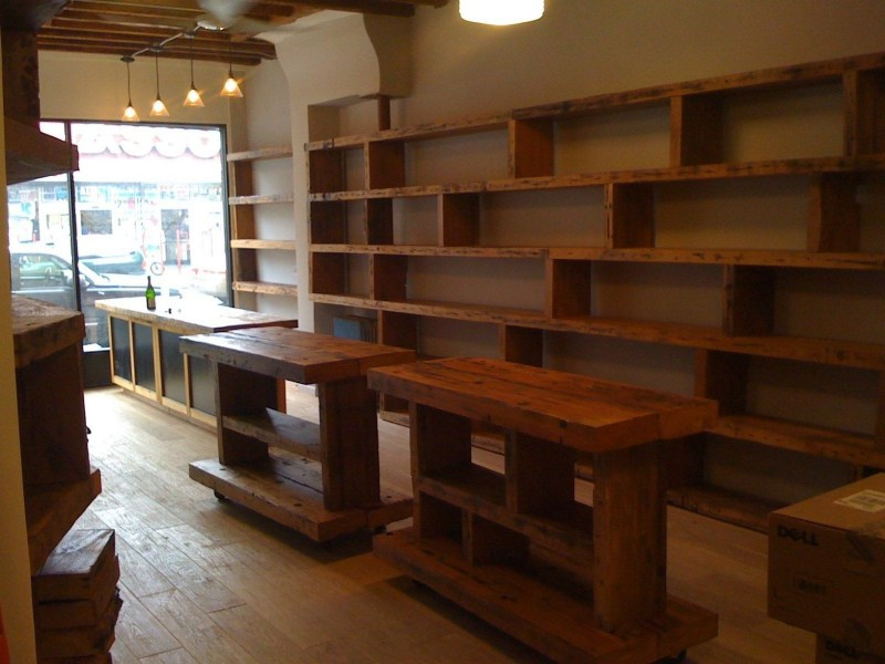 Wood Display Shelves   Foter Collapsible shelving