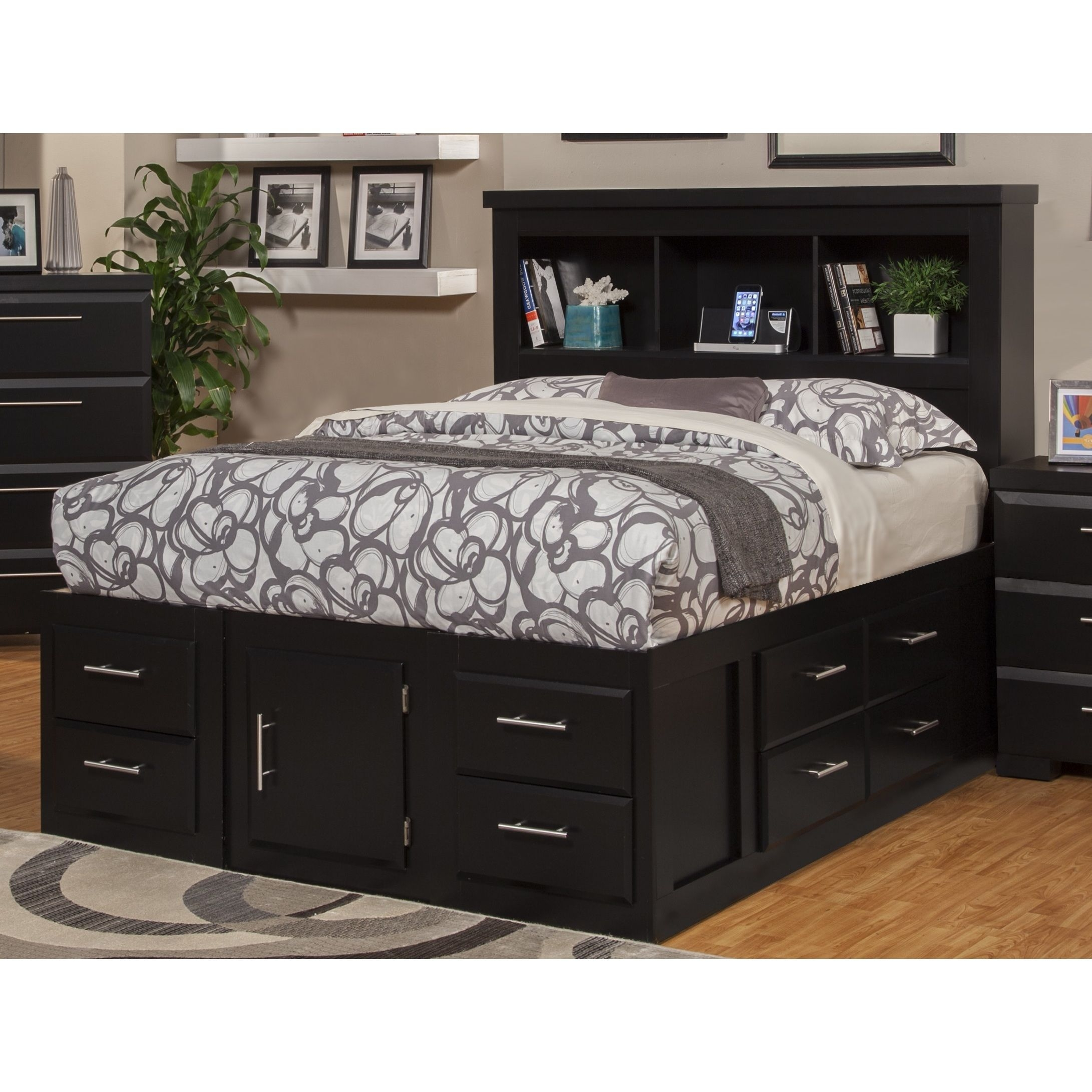 King Size Bookcase Headboard   Foter Smooth Black Bookcase Headboard