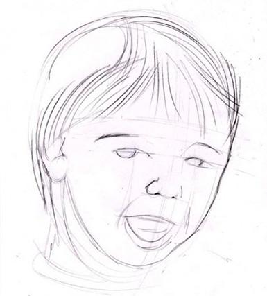 جزئیات چهره کودک