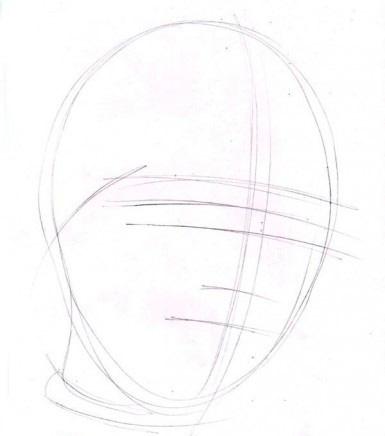 a gyermek arcának kontúrjai