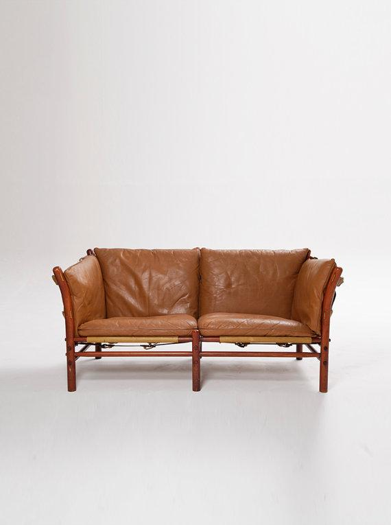 Modern Brown Leather Armchair