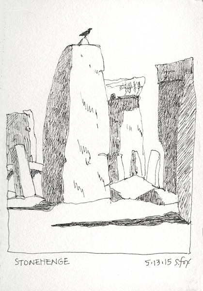 stonehenge sketchbook - 500×500