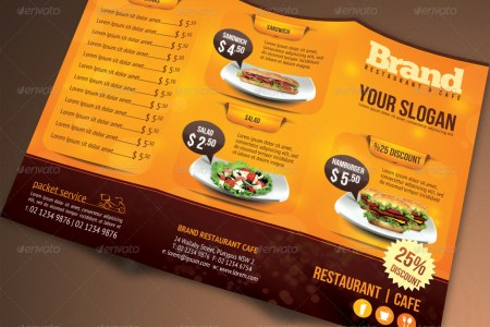 50 PREMIUM   FREE PSD TRI FOLD BROCHUREB TEMPLATES FOR BUSINESS AND     Tri Fold Brochure Restaurant Cafe Menu PSD Template