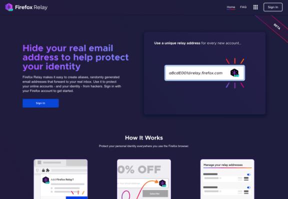 Firefox Relay – 免费邮箱转发服务,支持多个地址,修改管理功能