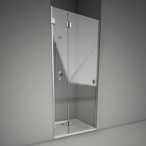 Frameless Shower Door Niven 90l Koło Free 3d Models