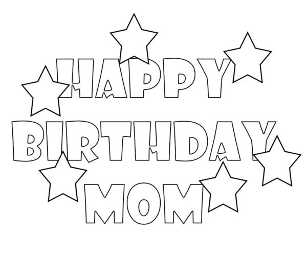 happy birthday mom coloring pages # 35