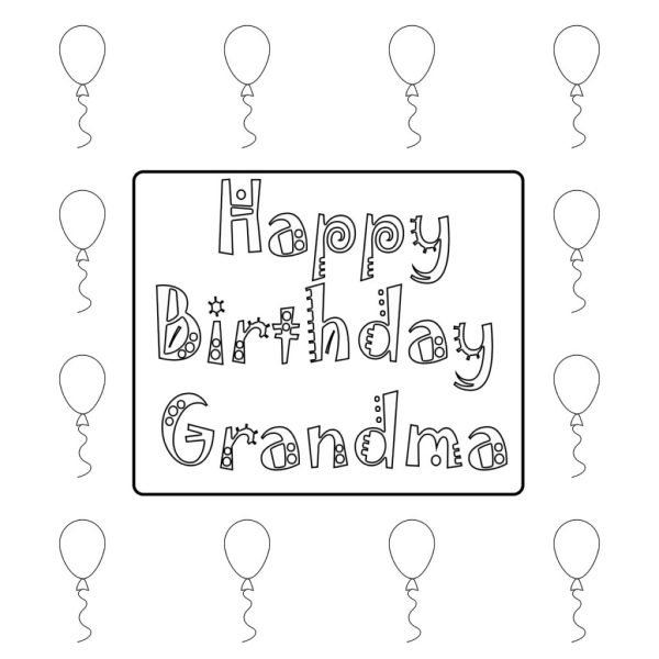 coloring pages happy birthday # 55