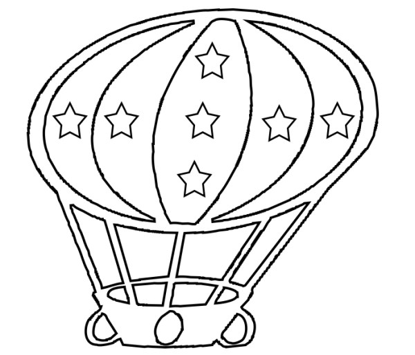 hot air balloon coloring pages # 48