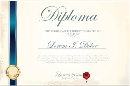 Best Certificate template design vector 01 free download Best Certificate template design vector 01