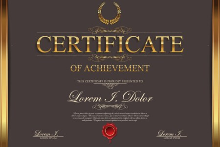 Modern certificate creative template vector 04 free download Modern certificate creative template vector 04