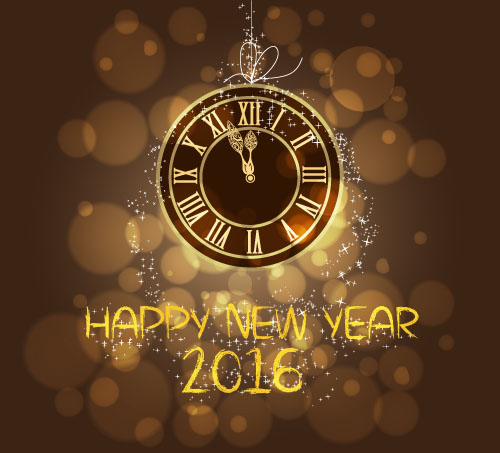 2016 new year with vintage clock vector free download 2016 new year with vintage clock vector