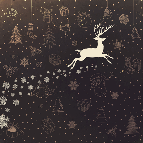 Cute Cartoon Christmas Background