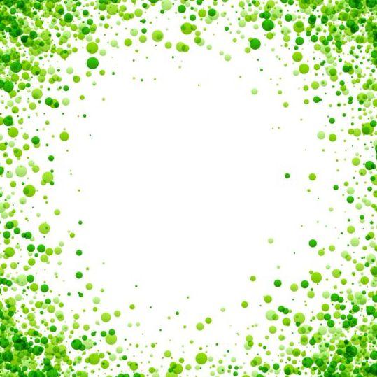 Green dots frame vectors - Vector Frames & Borders free ...