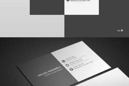 White and Black Business Card PSD Template free download White and Black Business Card PSD Template