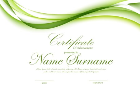 Green styles certificate template vector 03 free download Green styles certificate template vector 03