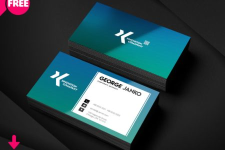 150  Free Business Card PSD Templates Corporate Manager Business Card PSD Template