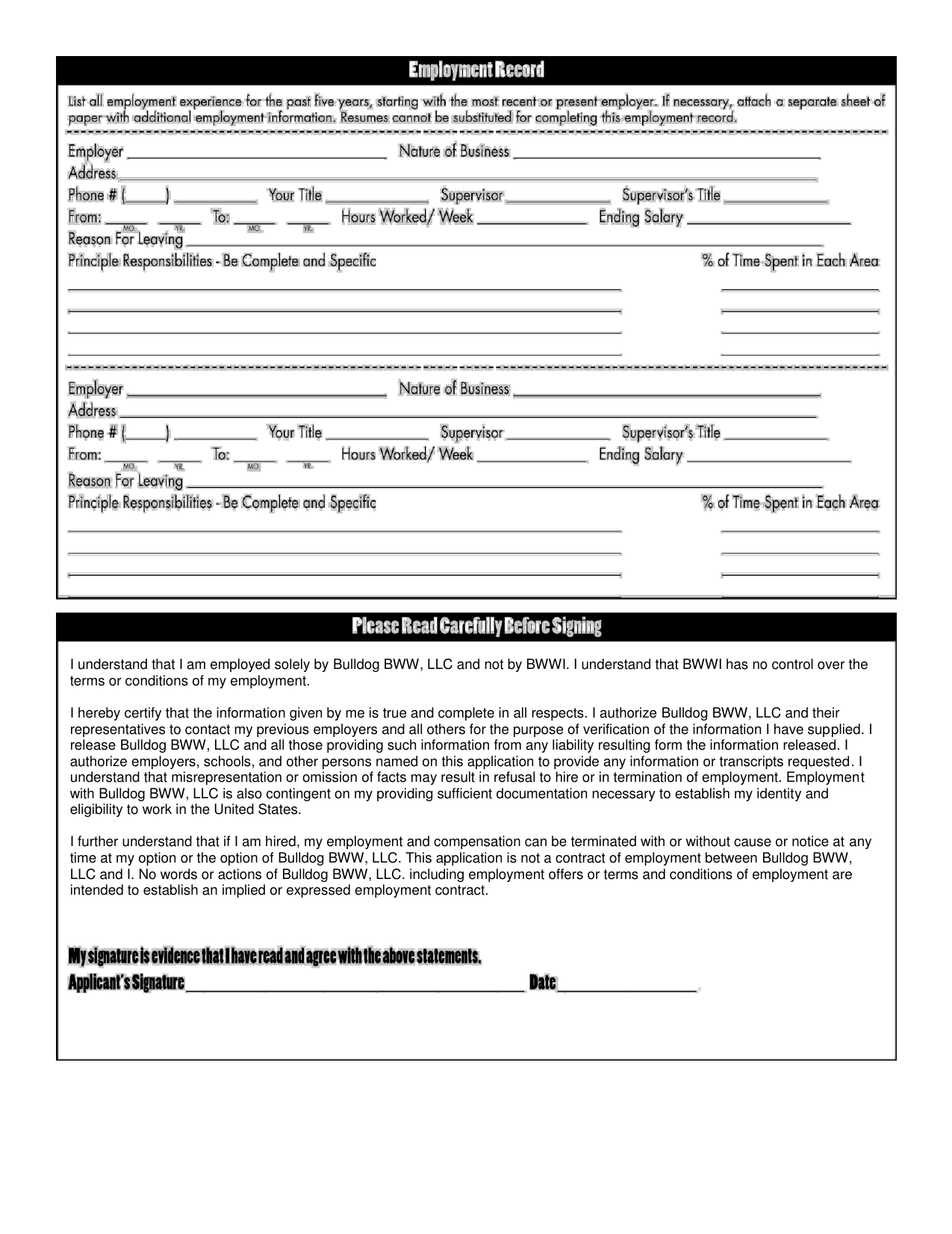 Tractor Supply Job Application Form