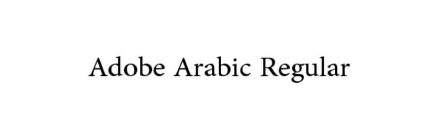 Adobe Arabic Regular Font