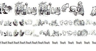 pooh font 310x165 - Pooh Classic Dings Font Free Download
