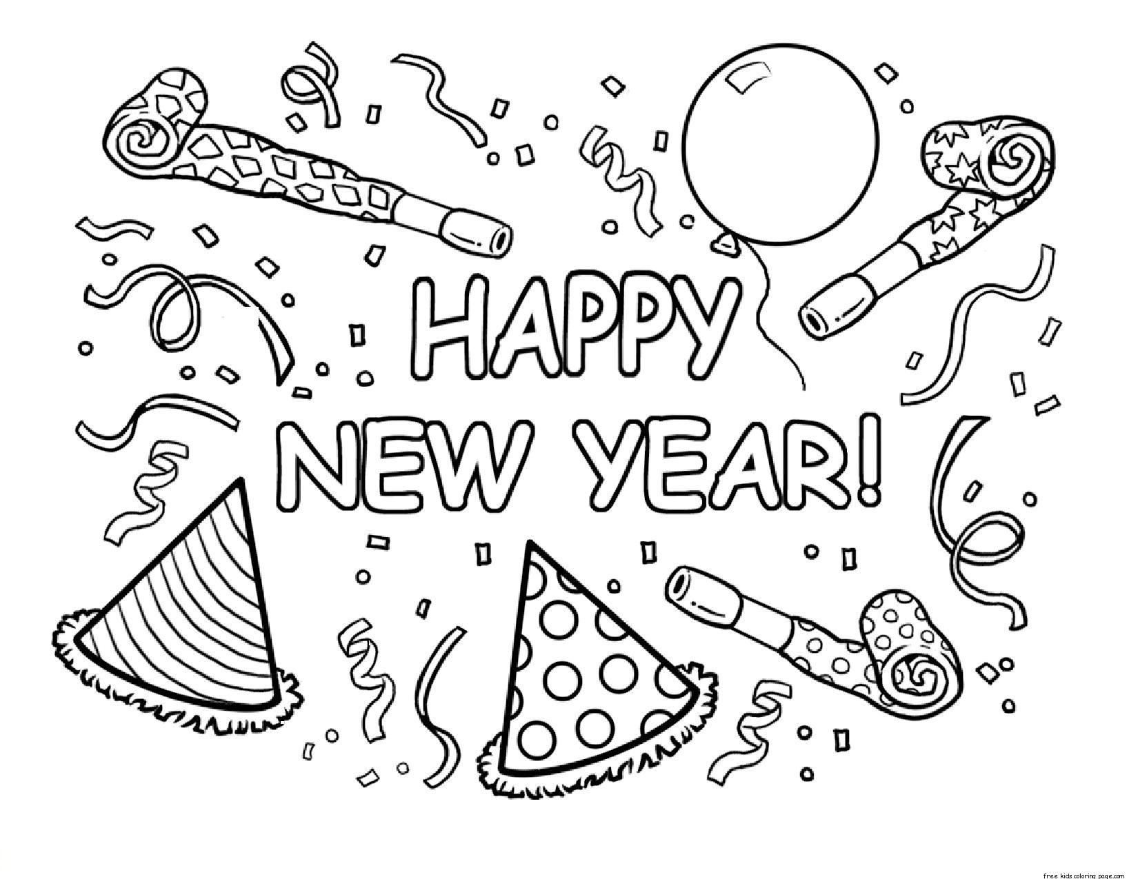 New Years Printable Coloring Pages Coloring Page