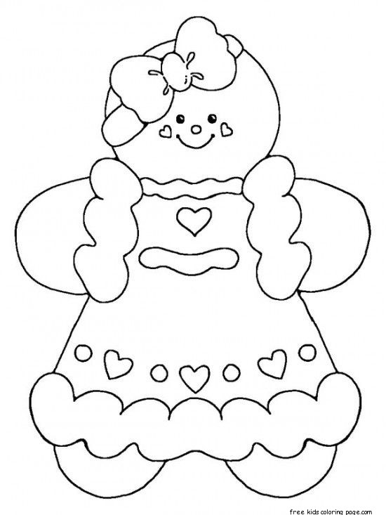 printable gingerbread man coloring pages for kidsFree ...