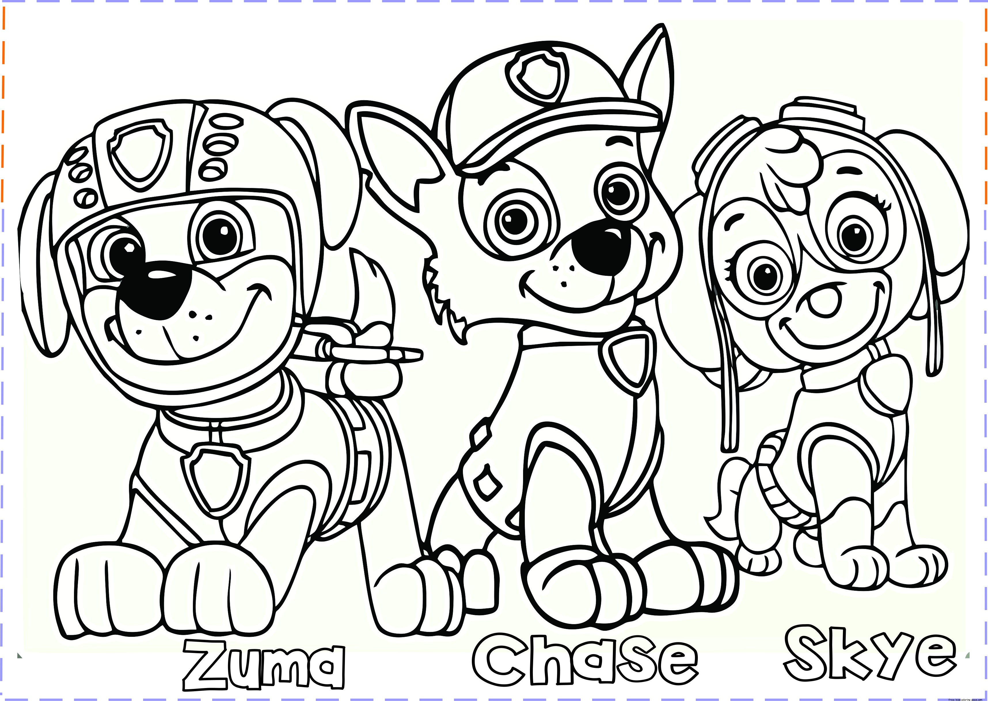 Paw Patrol Coloring Pages Free Printable Coloring Pages For Kids