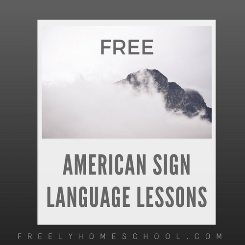 Free Online American Sign Language Courses | Freely Homeschool