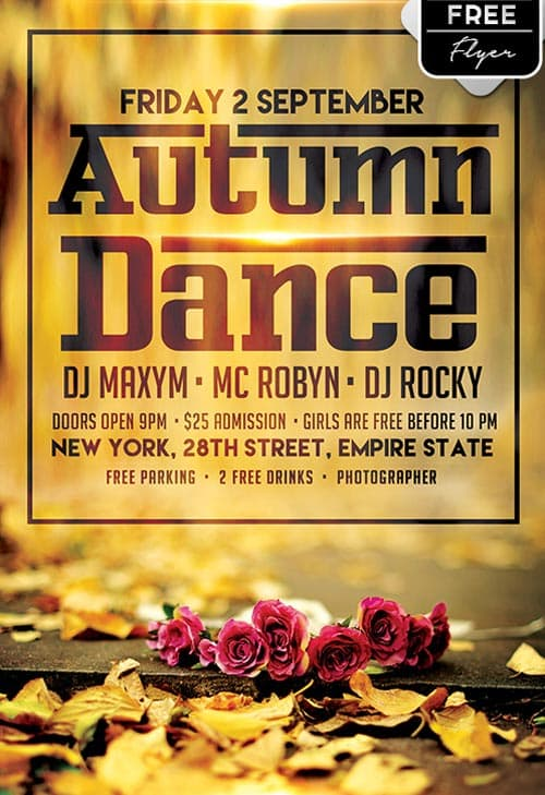 FreePSDFlyer   Download the Autumn Dance Free Flyer Template for     Autumn Dance Free Flyer Template