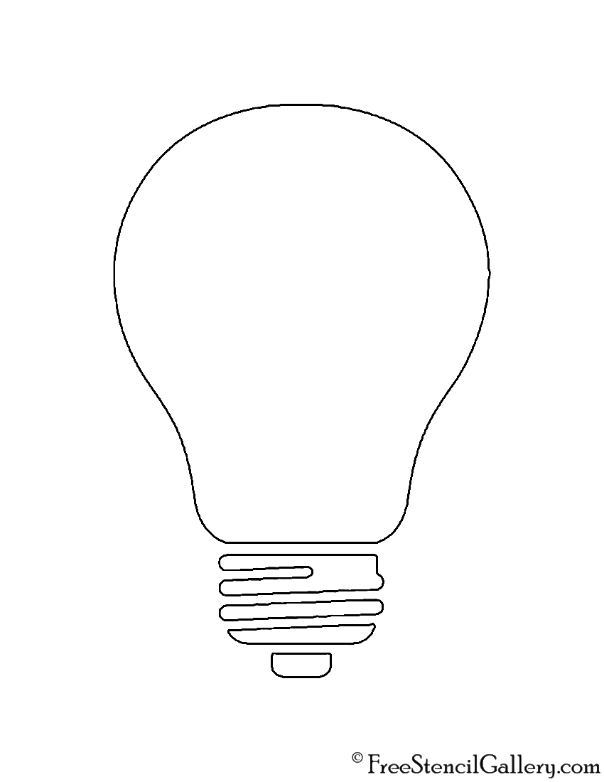 Christmas Light Bulb Stencil