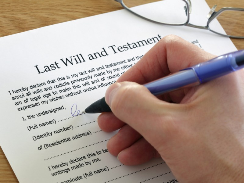 Free Will Forms     Free Last Will   Testament Form To Print Signing Last Will and Testament