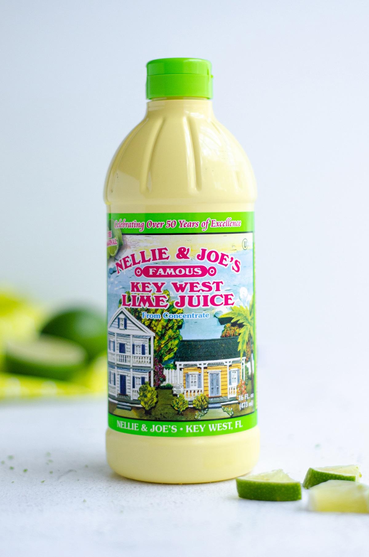 bottle of key lime pie juice