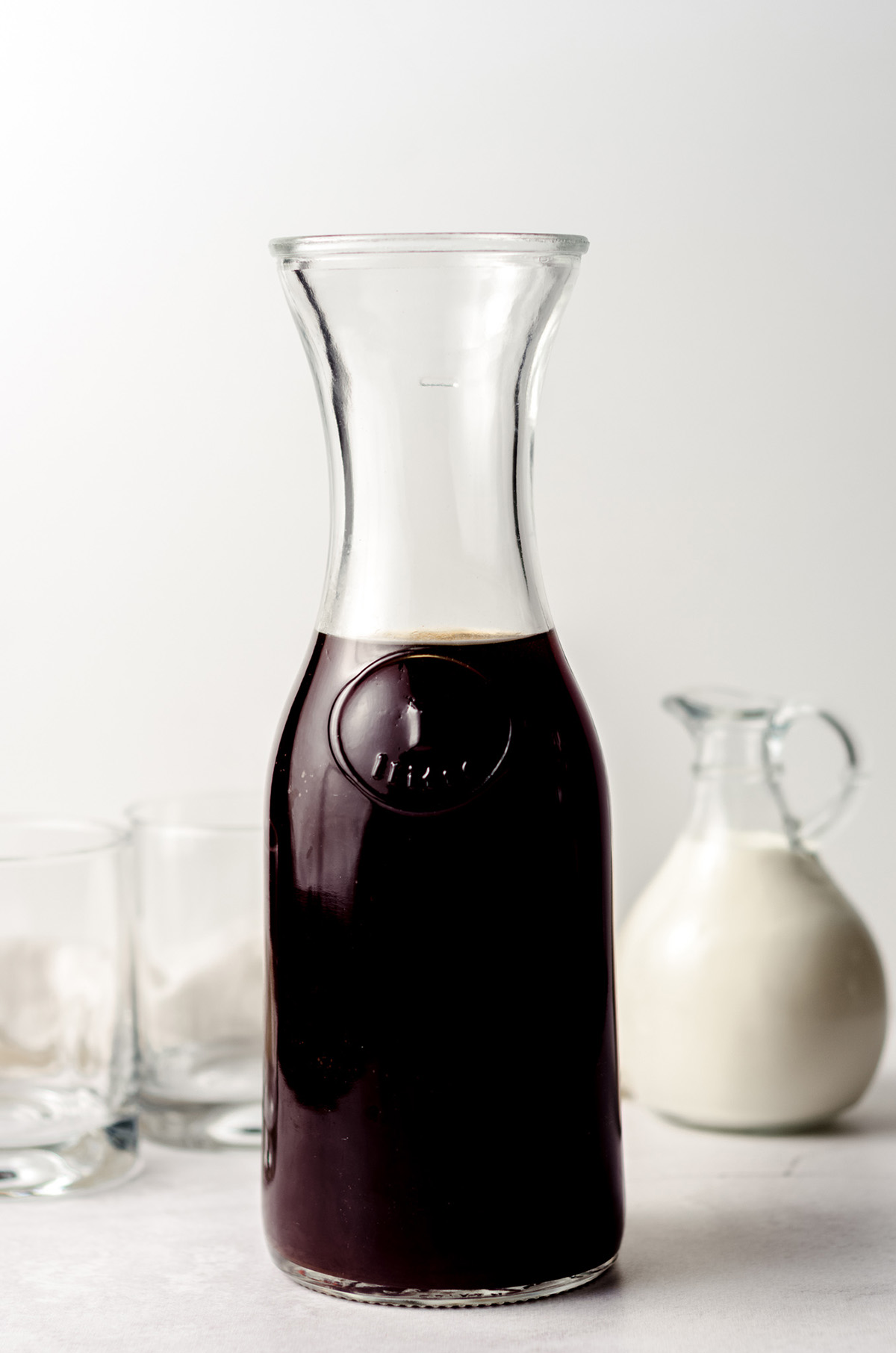 a carafe of cold brew coffee