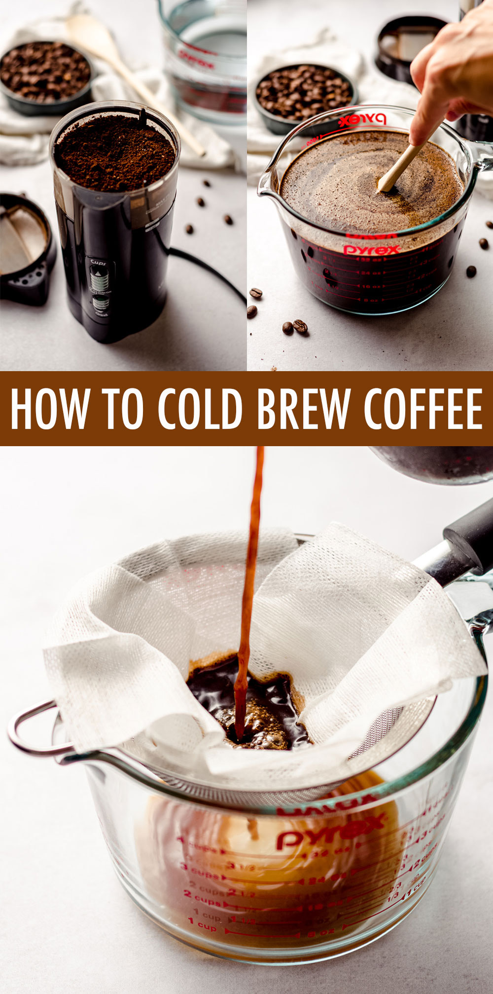 Making cold brew at home is a lot simpler than you think it is. All you need are your favorite coffee beans, cold water, and 24 hours for cold coffee that is smooth, ever so slightly sweet, and still bursting with bold coffee flavor.