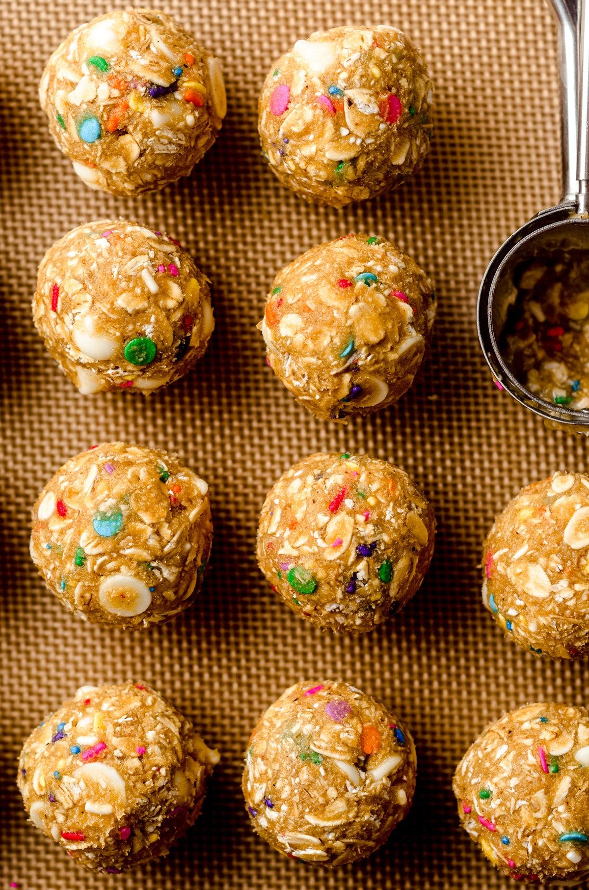 funfetti oatmeal cookie dough balls