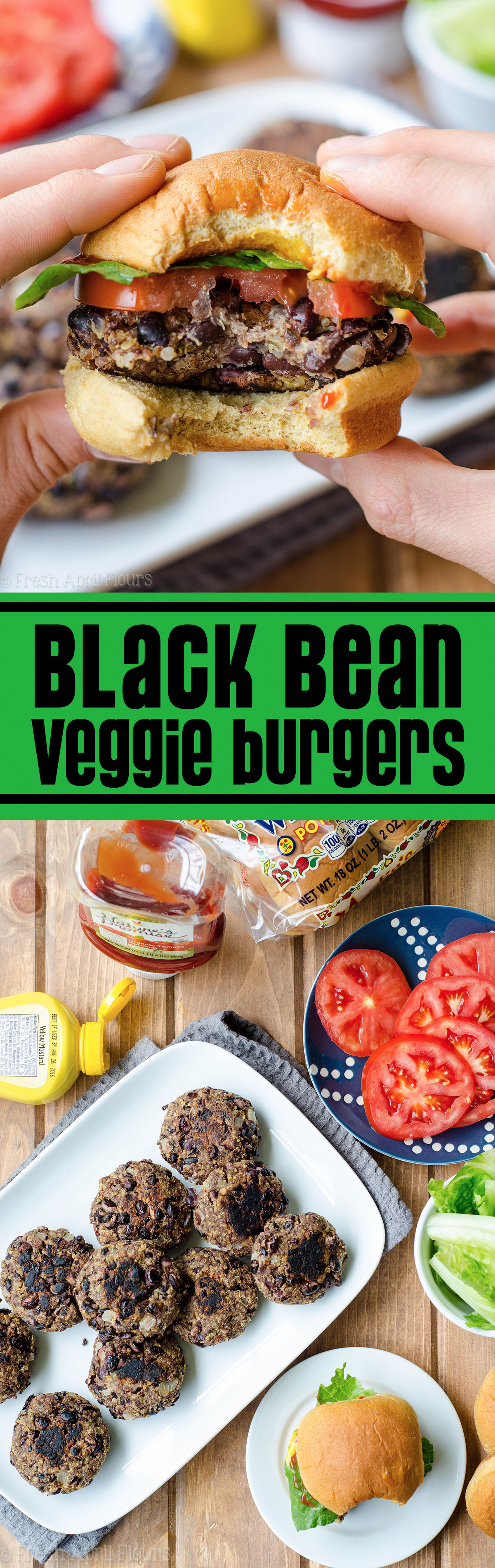 Black Bean Veggie Burgers: Hearty, flavorful, meatless burgers that can easily go on the grill or in a skillet on the stove top. Great between a bun or over a salad.
