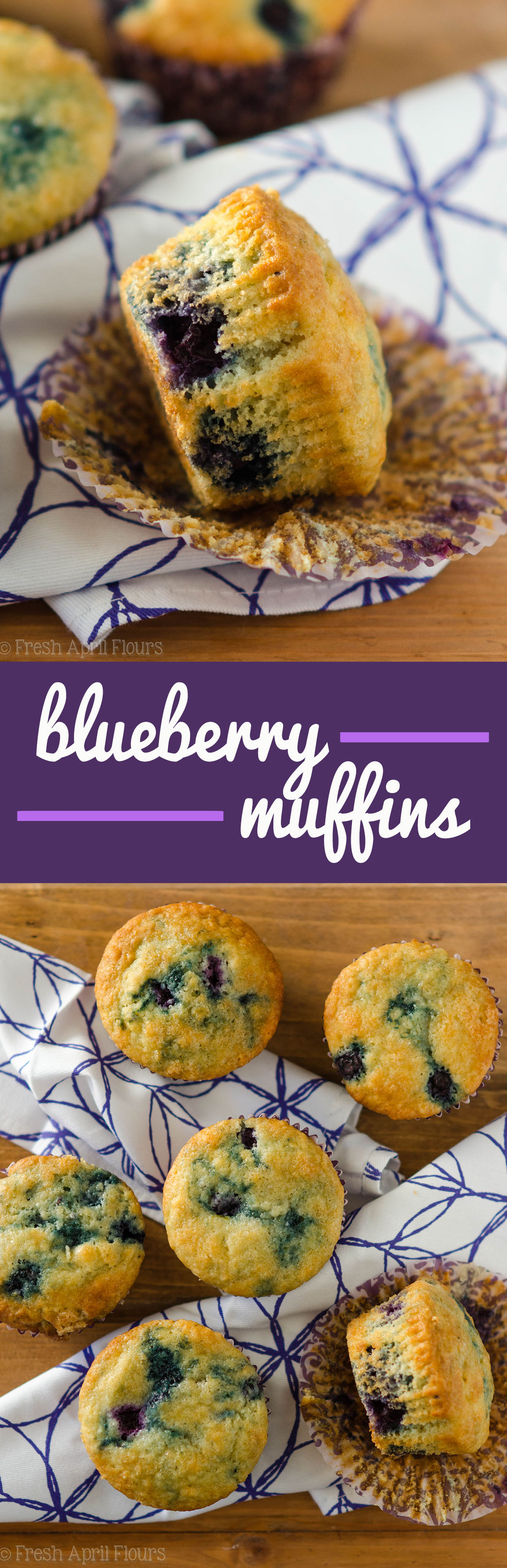 Blueberry Muffins: A quick and easy recipe for the classic! Moist, tender, and bursting with juicy blueberries.
