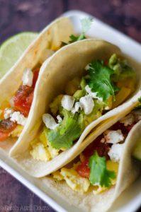 vegetarian breakfast tacos