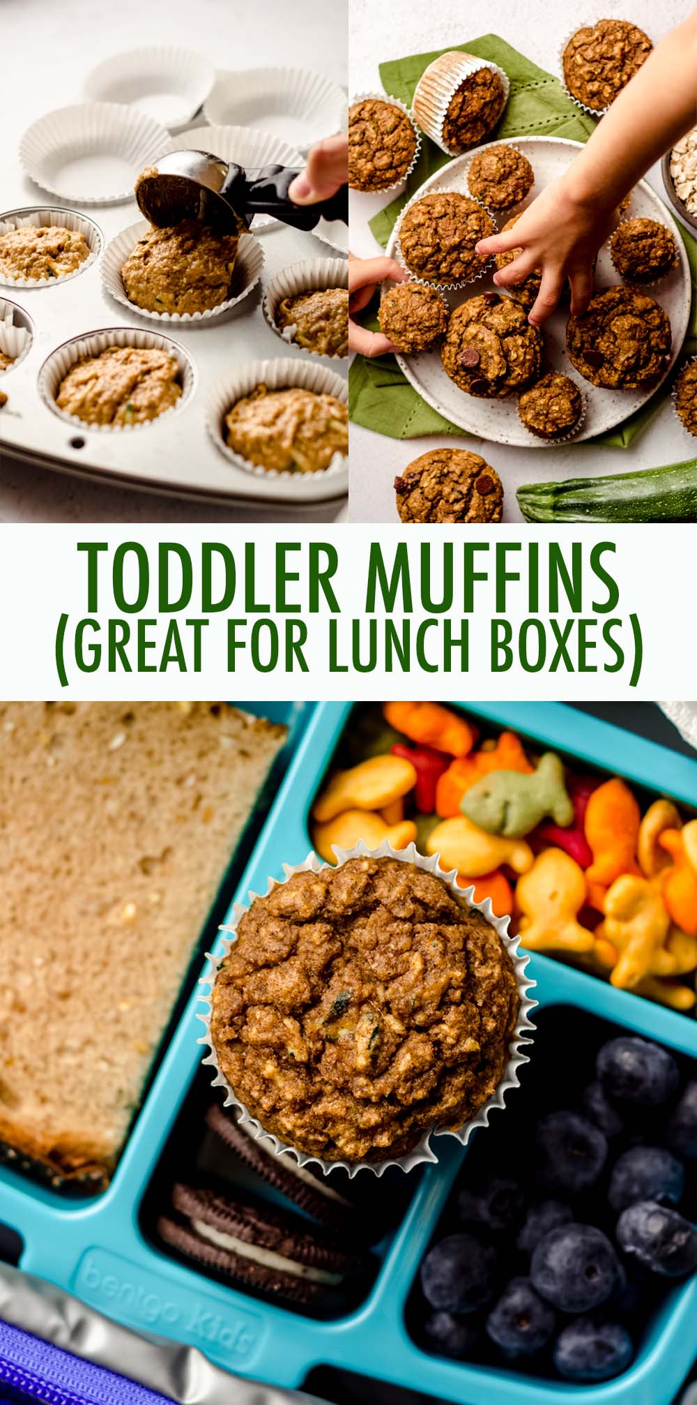 Whole wheat muffins made with shredded zucchini and pureéd pumpkin, sweetened with mashed bananas, applesauce, and minimal sugar. Suitable for toddlers, children, kids, big kids, and adults!